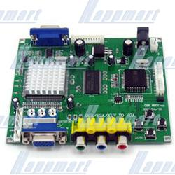 CGA/EGA/YUV to VGA HD-Converter PCB(single VGA output)