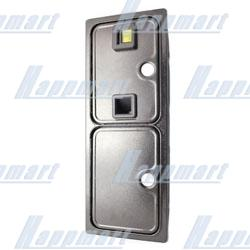 Double Insertion Coin Door with Single Coin Acceptor